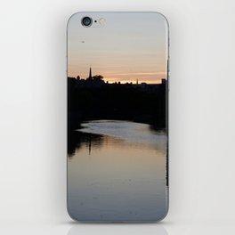 Sunset over Leith Edinburgh iPhone Skin