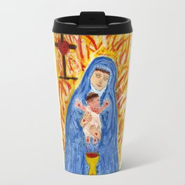 Our Lady with infant crucified Christ Travel Mug