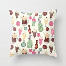 Soda Jerk Pattern Throw Pillow