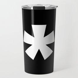 Asterisk (White & Black) Travel Mug