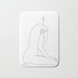 Nude life drawing figure - Cherie Bath Mat