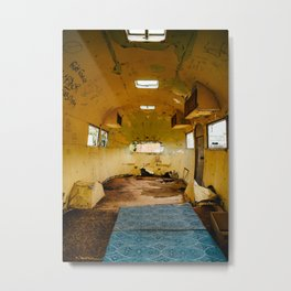 Abandoned airstream Metal Print
