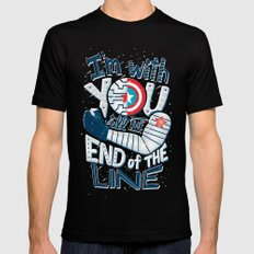 Till the end of the line MEDIUM Black Mens Fitted Tee