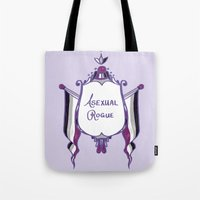 asexual Tote Bags featuring Asexual Rogue by armouredescort