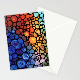 Abstract 1 - Beautiful Colorful Mosaic Art by Sharon Cummings Stationery Cards
