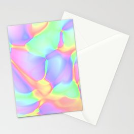 Pretty Pastel Rainbow Abstract Design Stationery Cards