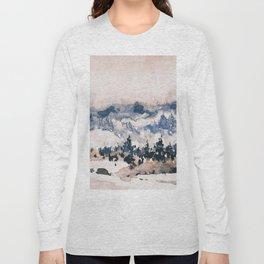 Watercolor Pine Trees Long Sleeve T-shirt