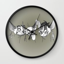Hyenas / Shenzi, Banzai and Ed / Lion King Wall Clock