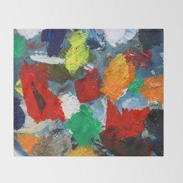 The Artist's Palette Throw Blanket