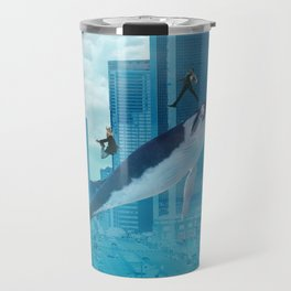 Whales and cities Travel Mug