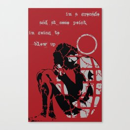 Human Shrapnel Canvas Print