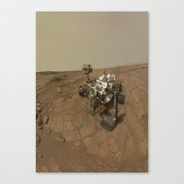 NASA Curiosity Rover's Self Portrait at 'John Klein' Drilling Site in HD Canvas Print