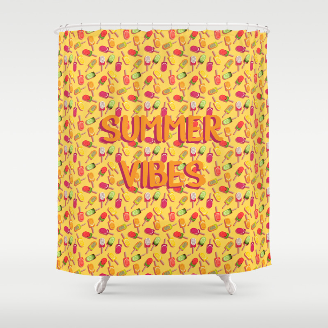 dragonfruit shower curtains | society6