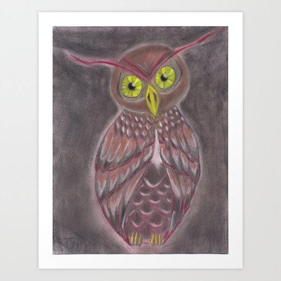 Stylized Owl Art Print