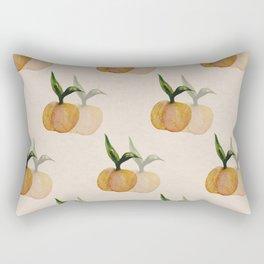 Peach watercolor pattern Rectangular Pillow