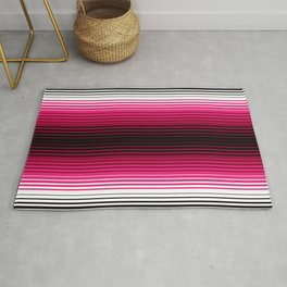 Deconstructed Serape in Magenta Rug