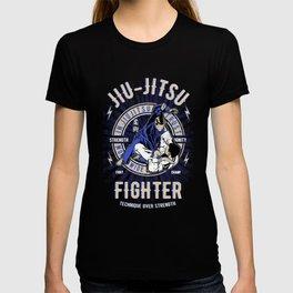 Jiu Jitsu - Technique Over Strength, Ju Jutsu BJJ Jiu Jitsu Fighter, Grappling, MMA, UFC T-shirt