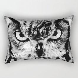 owl look digital painting reacbw Rectangular Pillow
