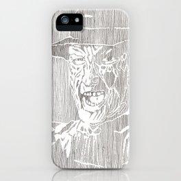 Freddy Krueger by Aaron Bir iPhone Case