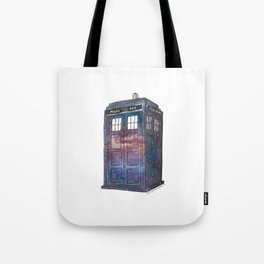 Doctor Who Galaxy Tardis Tote Bag