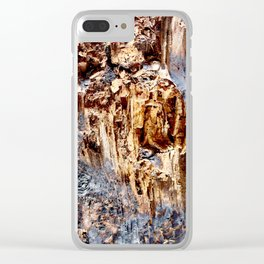 Burnt Wood Texture Clear iPhone Case