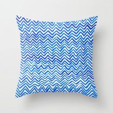 Blue triangle pattern Throw Pillow