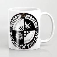 fandom Mugs featuring Ultimate Fandom Academy by Thg Fashion