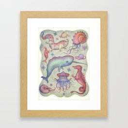 Creatures of the Deep Sea Framed Art Print