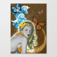 pinup Canvas Prints featuring Pinup by Sarah Churchill