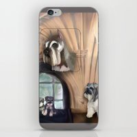 schnauzer iPhone & iPod Skins featuring Schnauzer by Michelle Behar
