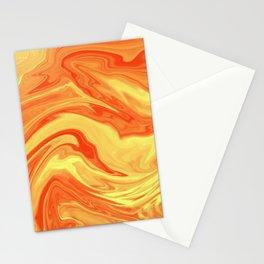 Orange Marble Marble Stationery Cards