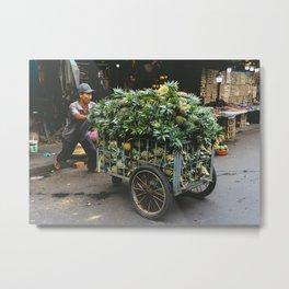 Pineapples in the Market, Hoi An, Vietnam Metal Print