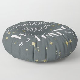 The unbearable lightness of wasting time Floor Pillow
