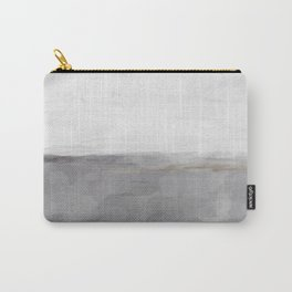 Light & Dark Gray with Gold Charcoal Grey Abstract Painting, Modern Wall Art, Carry-All Pouch