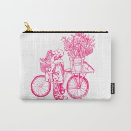 Bicycle Flower Seller in Hanoi Carry-All Pouch