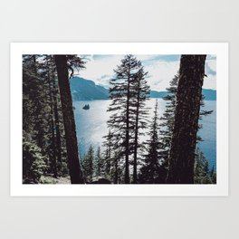 Mountain Lake Retreat Art Print