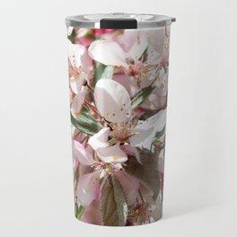 Light Pink Crab Apple Tree Close Up Travel Mug