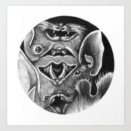 Bats II Art Print