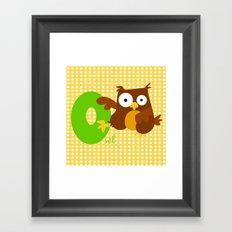 o for owl Framed Art Print