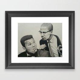 Muhammad and Malcolm Framed Art Print