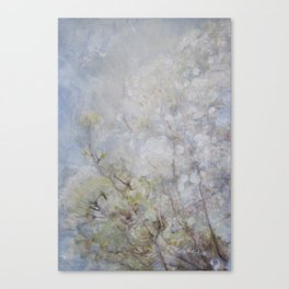 White Blossom Flowers Canvas Print