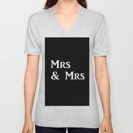Mrs & Mrs Monogram Unisex V-Neck