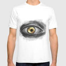 Eye of The Tiger White MEDIUM Mens Fitted Tee