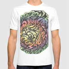 Aztec  MEDIUM White Mens Fitted Tee