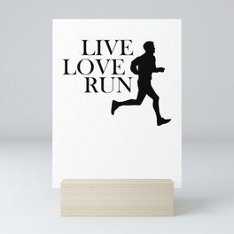 Live Love Run Mini Art Print