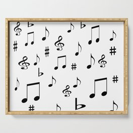 Music Notes Serving Tray