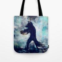 rocket raccoon Tote Bags featuring Rocket Raccoon by Luca Leona