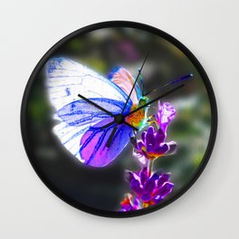 Butterfly on the Lavender Wall Clock