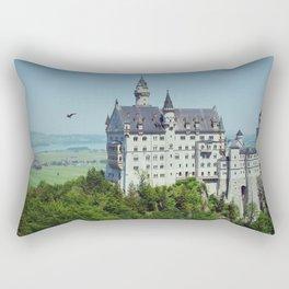 Neuschwanstein, inspirational castle - Fine Art Travel Photography Rectangular Pillow