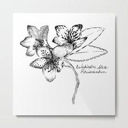 Washington State Rhododendron Metal Print